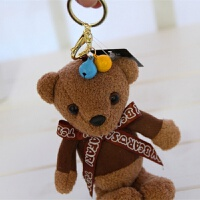 可爱香味泰迪熊小熊毛绒钥匙扣饰品背包小挂件男女汽车钥匙链礼物