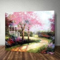数字油画动漫 数字油画客厅风景花卉动漫人物填色手绘填充油彩装饰画B 60*75带内框2.5cm厚 颜料+画笔+亮光剂