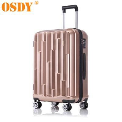 【可礼品卡支付】24寸 OSDY品牌新款 旅行箱 行李箱 拉杆箱  A45-耐压抗摔ABS+PC材质 静音万向轮 可托运时尚个性的对流设计,凹凸有致的外在