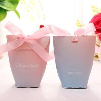 欧式喜糖盒创意结婚用品纸盒子婚庆礼盒糖果盒婚礼仙女喜糖包装袋 30个装中号( 5.2*5.5*11cm)
