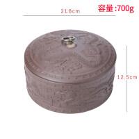 【优选】茶叶罐陶瓷密封罐家用紫砂普洱茶饼茶盒小号茶罐防潮罐子便携茶道