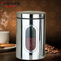 不锈钢储物密封罐茶叶奶粉杂粮咖啡零食品干货大储存罐瓶宜家透明