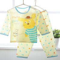 夏季男童装儿童睡衣套装家居服婴儿空调服薄款2-3岁宝宝棉内衣