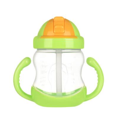 儿童吸管杯带手柄婴儿水杯防漏杯宝宝学饮杯小喝水杯子宝宝