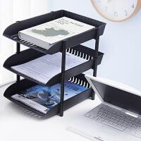 办公收纳架桌面多层置物架多功能杂物架叠加式a4纸文件整理储物架