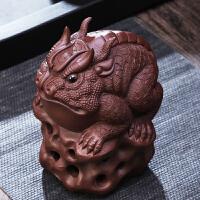 唐丰紫砂茶宠礼盒单个家用貔貅茶玩可养茶虫茶台功夫茶摆件