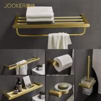 空铝浴室浴巾架金色置物架厕所毛巾架打孔式五金挂件卫生间欧式JC