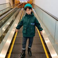 男童外套2020秋冬中大童装风衣厚儿童冲锋衣三合一加绒潮