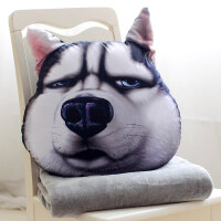 多功能抱枕被子�捎� 格�`雅 搞怪搞笑男生��性�焊愎奉^滑稽3d枕�^哈士奇二哈抱枕被子�捎每�|