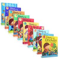 Harry and the Dinosaurs 哈利和恐龙8本套装 幼儿趣味英文原版读物 英国进口儿童图画绘本 平装大开本at the Museum First Sleepover