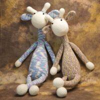 宝宝毛线牛奶棉钩针玩偶材料包手工DIY毛线娃娃针织编织教程
