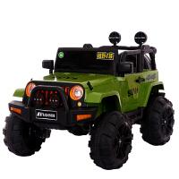 儿童电动车四轮1-3带遥控充电越野车4-5岁汽车男孩宝宝玩具可坐人 单电单驱【白色】 无