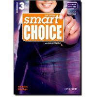 牛津美式英语/中学及成人/4个级别Smart Choice Second Edition Student Book & Online Practice 3 Pack 3级学生用书带在线资源