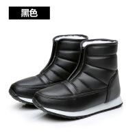冬季妈妈鞋棉鞋中老年雪地靴女男短靴防水保暖短筒平底老人靴