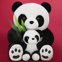 六一儿童节520熊猫公仔毛绒玩具黑白布偶娃娃抱枕可爱抱抱熊女生生日礼物送女友520礼物母亲节