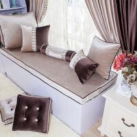 飘窗垫定做窗台垫阳台垫欧式榻榻米垫高密度海绵实木沙发垫订做定制 一米面料(2.8米宽幅)