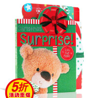 英文原版绘本 Christmas Suprises 圣诞惊喜纸板翻翻书 礼物书籍 儿童启蒙图画书 圣诞节主题
