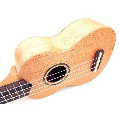 (货到付款)Ahtons 乌克丽丽 (面单)尤克里里 初学 ukulele 音孔 贝壳镶嵌 小四弦琴 21寸 简单易学 奥古曼木 背侧板 玫瑰木指板 UKE300SMH-400818 送(尤克里里琴套+3个拨片+教程一本) 贝壳镶嵌音孔,音色清亮,21英寸