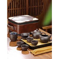 唐丰紫砂旅行茶具带茶盘户外便携收纳包功夫泡茶壶一壶四杯快客杯