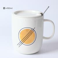 创意骨瓷咖啡马克杯带盖勺简约文艺大容量情侣陶瓷水杯子