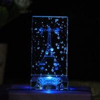 【新品优选】艾菲尔铁塔玫瑰水晶摆件生日送女朋友同学聚会闺蜜圣诞节礼物