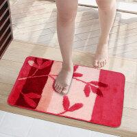 享家多尼尔欧式客厅卧室茶几厨房进门垫浴室防滑脚垫进门地垫玄关脚垫 地垫40*60CM 红色室内地垫