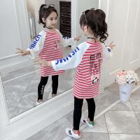 2019新款韩版儿童中长款打底衫洋气卫衣女童长袖秋装卫衣