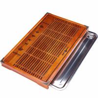 唐丰茶盘实木不锈钢底盘家用简约小茶台抽屉式茶海储排两用茶托