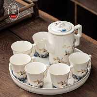 高档功夫茶具套装*礼盒装家用客厅泡茶陶瓷茶壶茶杯办公室会客