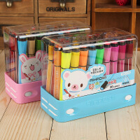 创意文具爱好24色带印章儿童水彩笔 粗杆儿童水彩色笔 可水洗 1881-24