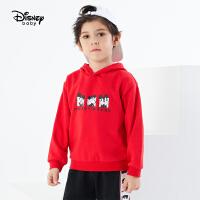 【3件4折券后预估价:66.8】迪士尼男童长袖T恤2021春装新款洋气童装儿童宝宝卡通米奇打底衫