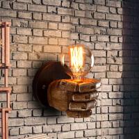 欧式拳头树脂艺术壁灯过道楼梯灯具复古工业风卧室壁灯床头灯
