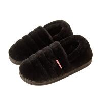 冬天孕产妇月子棉拖鞋包脚带后跟有根卧室内男女家用毛毛托鞋