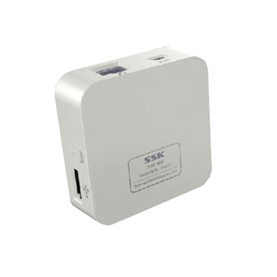 SSK飚王 SW001无线扩展器 存储数据无线分享+迷你路由器无线上网 无线HUB传输数据 WIFI本款产品为旧款包装 特价销售