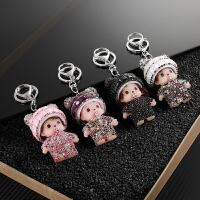 汽车钥匙扣女可爱蒙奇奇车用腰挂通用钥匙圈链挂件装饰礼品