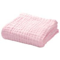 婴儿浴巾棉柔新生儿宝宝初生儿童洗澡大毛巾全棉6层纱布被子定制 6层 素色粉