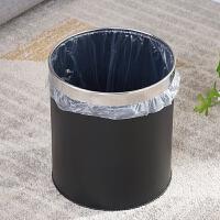 不锈钢不锈铁垃圾桶无盖家用厨房客厅卫生间简约加厚大号带压圈拉级纸篓