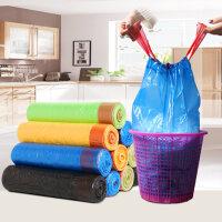 抽绳垃圾袋 自动收口加厚中号一次性卫生间家用通用点断型手提式 加厚