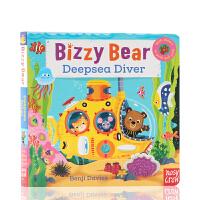深海潜水员 Bizzy Bear DeepSea Diver 小熊很忙系列 进口英文原版绘本 忙碌的小熊 抽拉游戏书