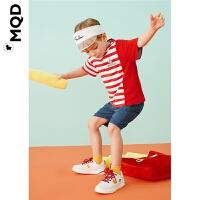 MQD童装男小童小恐龙款五分休闲裤20夏宝宝恐龙图案下装儿童裤装