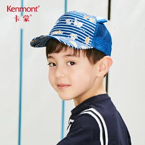 卡蒙3-6岁宝宝帽子可爱耳朵遮阳帽夏天男女童棒球帽卡通图案萌系 4683