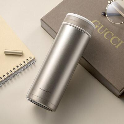 保温杯不锈钢便携暖水杯子男女冬季过滤泡茶杯办公杯直身水杯 抖音