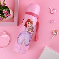 儿童保温杯小学生不锈钢水壶宝宝杯子男女幼儿园便携水杯 粉色(苏菲亚)