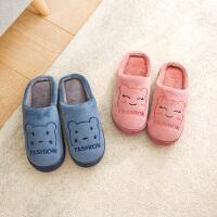 茉蒂菲莉 拖鞋 男士女士保暖防滑半包跟毛绒棉鞋冬季新款韩版情侣时尚休闲舒适百搭家居鞋