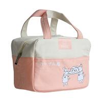 饭盒袋子保温防水大号加厚大容量铝箔午餐便当小学生饭盒袋手提包 卡通 粉色