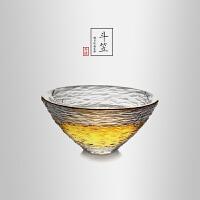 当当优品 锤目纹品茗杯-斗笠 光阴系列 加厚玻璃茶杯 功夫茶具 40ml