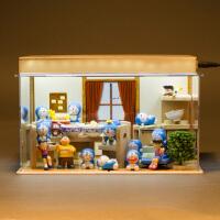 叮当猫机器猫模型蓝胖子周边公仔手办家居玩具摆件套装礼盒全套