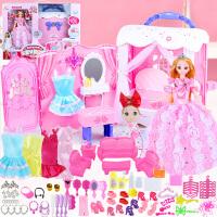 会说话的芭比洋娃娃套装大礼盒女孩公主儿童玩具公主屋梦想豪宅 高档手提大礼盒包装