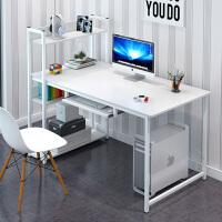 简约电脑台式桌书桌书架组合家用经济型学生写字台卧室笔记本桌子
