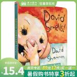 顺丰发货 David Smells!纸板书 A Diaper David Book 大卫笑了!大卫育婴手册 大卫・香农